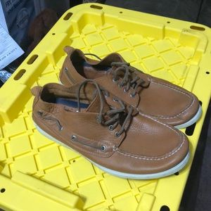 Men's Sperry boat shoes.